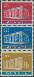Monaco 1969 SG946-948 Europa colonnade set MNH