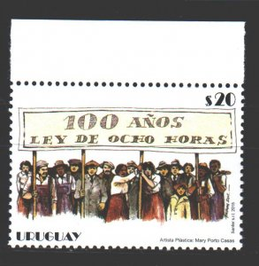 Uruguay. 2015. 3458. 100 years of the 8-hour working day law. MNH.