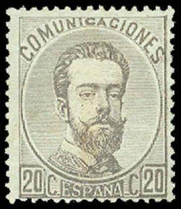 SPAIN-a-a-Pre 1900 (to 270) 183  Mint (ID # 65188)