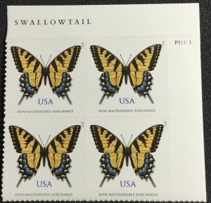 US #4999 MNH UR Plate Block of 4 Eastern Tiger Swallowtail Butterfly SCV $6.00