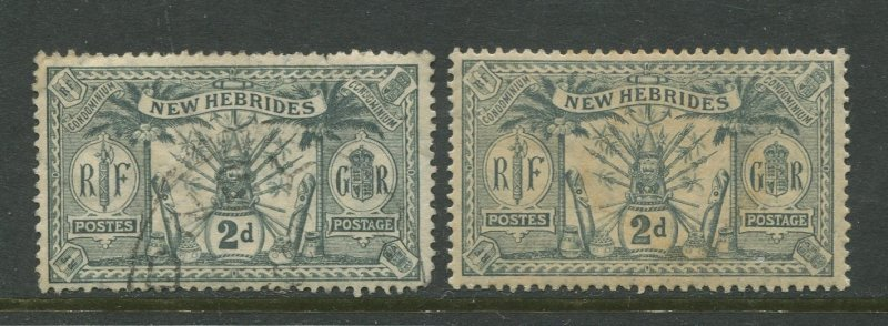 STAMP STATION PERTH New Hebrides British #19 Definitive Issue Mint /Used CV$1.00