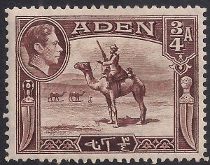 Aden 1939 - 48 KGV1 3/4 Annas Red Brown MM SG 17 ( H1340 )