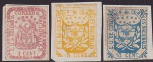 COLOMBIA 3 old forgeries of classic stamps..................................3768