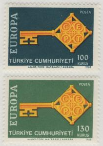 TURKEY MNH Scott # 1775-1776 Europa (2 Stamps) (1)