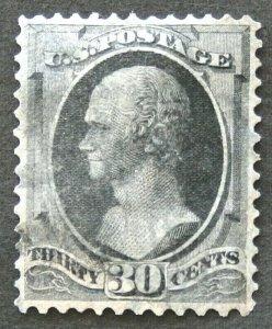 #154 -Hamilton 1870-71 Superb Centering. Light Cancel SCV $275 Free Shipping.