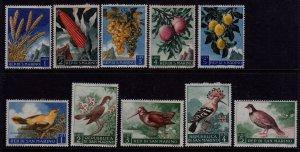 San Marino,1958,#417-420,&,1960,#446-450,unused,CV$3.00