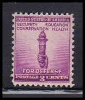 901 3c Torch Of Freedom Barely Clears MNH W4326