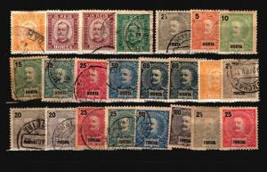 Horta and Funchal 23 Mint and Used, some faults - C1536