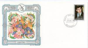 Lesotho 1986 Royal Wedding Prince Andrew  Sarah Sc 532 Fargusan Flower Orchid...