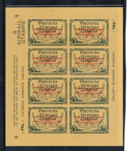 Canada #CL43 Very Fine Mint Full Plate #9 Pane Of Eight Never Hinged