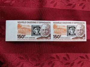 New Caledonia C159 imperf pair, XFNH, CV $35