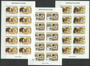 G1415 IMPERFORATE 2007 GUINEA FAUNA PETS CATS & DOGS CHIENS CHATS 10SET FIX