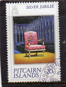 Pitcairn Island Silver Jubilee used