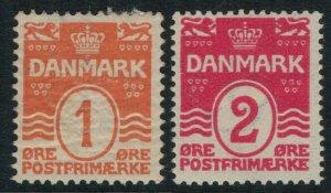 Denmark #57-8* CV $6.00 mint postage stamps
