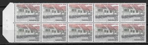 1978 Denmark 617a Old Town In Aarhus Post Office BK pane of 10 MNH