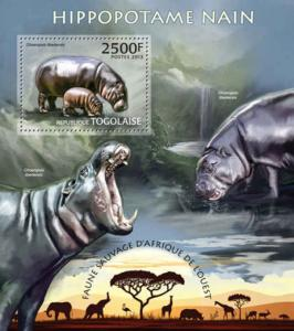 Togo - Hippopatamus - Souvenir Sheet - 20H-564