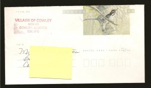 Canada Hairy Woodpecker 46Cent Pre-stamped Envelope Used