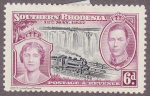 Southern Rhodesia 41 Queen Elizabeth, George VI 1937