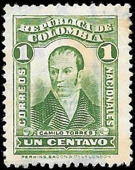 1917 COLOMBIA SC# 340 -  CV $.25 - USED ng - GOOD SPACE FILLING STAMP