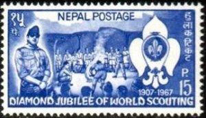 Nepal SC#207 60th Anniversary of Boy Scouts MNH