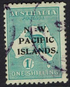NWPI NEW GUINEA 1918 KANGAROO 1/- 3RD WMK USED