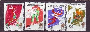 J23347 JLstamps 1986 south korea set mnh #b39a-42a sports