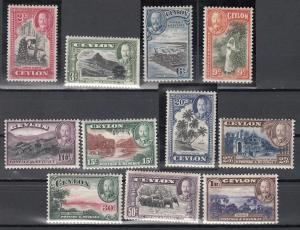 Ceylon, Sc # 264-274, MH, 1935, George V set