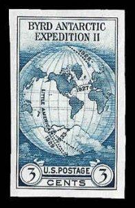 PCBstamps      US # 735a S.S. sgl. 3c Byrd Antarctic, MNH, (15)