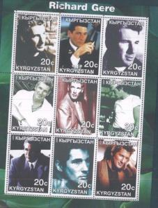 RICHARD GERE Souvenir Sheet MNH from Kyrgyzstan - E74