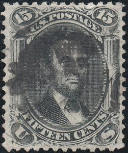 U.S. 98 Used VF Very Thin Paper (61219)