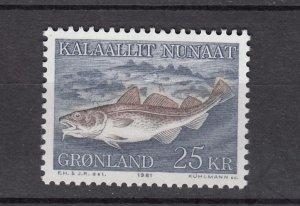 J26538  jlstamps 1981-6 greenland part of set mnh #140 codfish