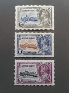 British Guiana  223-224,226 VF MNH. Scott $ 17.75