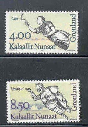 Greenland Sc 273-74 1994 Ships Figureheads stamp set mint NH