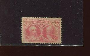 Scott 244 Columbian Hi Value Unused Stamp  (Stock 244-3)