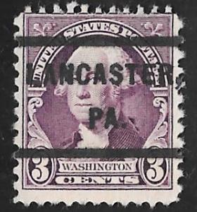 720 3 cents Washington, Deep Violet  Precancel Stamp used AVG