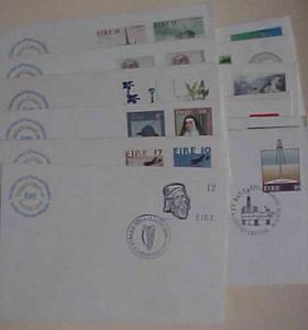 IRELAND  FDC 14 DIFF. 1977-1981 PO GENERAL PURPOSE CACHET