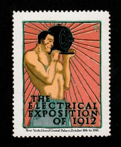 POSTER STAMP ELECTRICAL EXPOSITION OF 1912 - NEW YORK (MINT)
