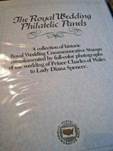 THE ROYAL WEDDING PHILATELIC PANELS COLLECTION - STAMPS AND PHOTOS