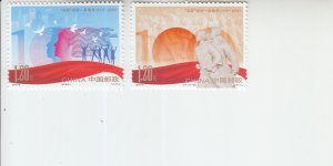 2019 PR China May 4th Movement (2) (Scott NA) MNH