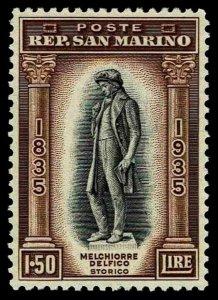 1935 San Marino #179 Statue of Delfico - Unused NG - VF - CV$57.50 (ESP#4138)