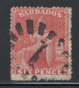 Barbados 1861 Britannia 6p Scott # 20 Used