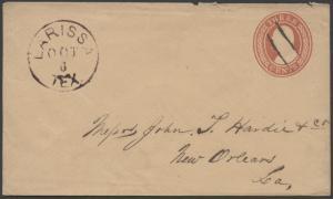 TEXAS CHEROKEE COUNTY (1800's Larissa) DPO DEAD POST OFFICE 1847-1905