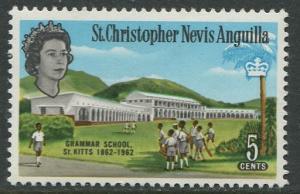 St. KITTS-NEVIS-Scott 150 - QEII - Definitives-1963- MVLH - Single 5c Stamp