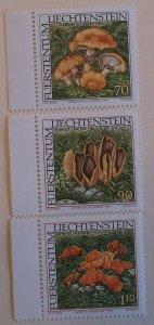 Liechtenstein 1101-3 MNH Cat $4.60 Mushroom Topical