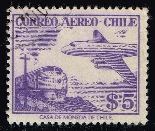 Chile #C183 Diesel Locomotive and Douglas DC-6B; Used (0.25)