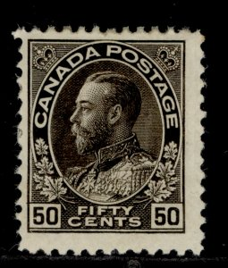 CANADA GV SG215, 50c sepia, M MINT. Cat £50.
