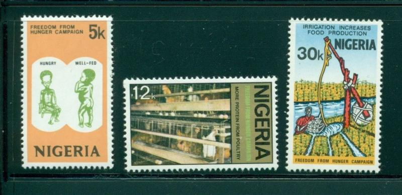 Nigeria Scott #324-326 MNH Freedom From Hunger $$
