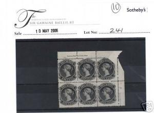 Nova Scotia #8 Mint Imprint Foldover Block Of 8