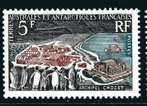 FSAT Antarctic Penguins on CrozetIsland issue (SC #23) VF MH Cat $65...Popular!
