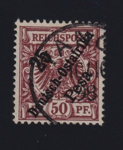 German East Africa #10 (1896) 25pes on 50pf Imperial Eagle Germany Used Tanger